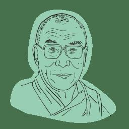 Illustrerad bild av Dalai lama