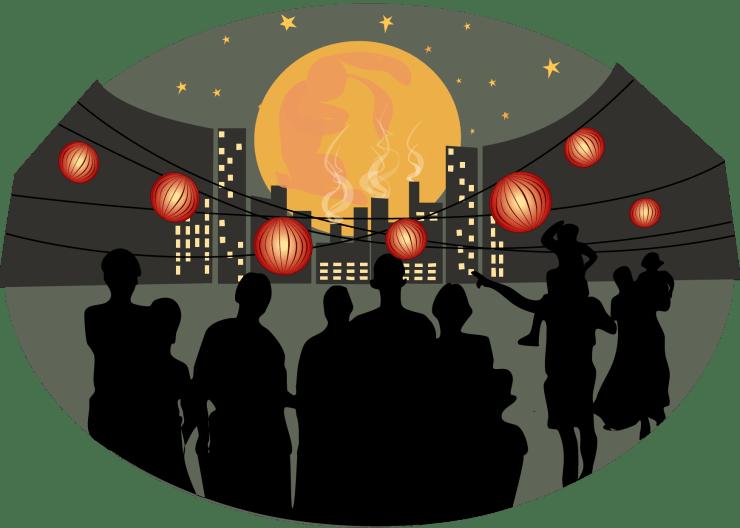 Illustrerad bild av en Månfest