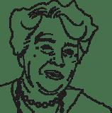 Illustrerad bild på Eleanor Roosevelt