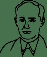 Illustrerad bild på Raoul Wallenberg.