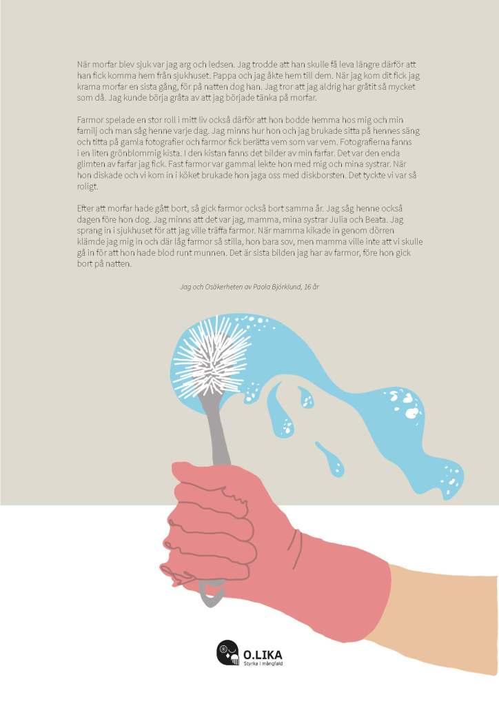 Illustration av Paula Björklunds text