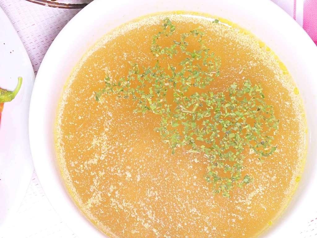 サラダ豆のコンソメスープ