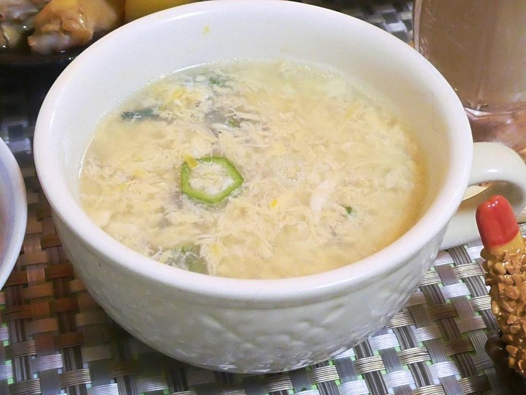 オクラ入りたまごスープ