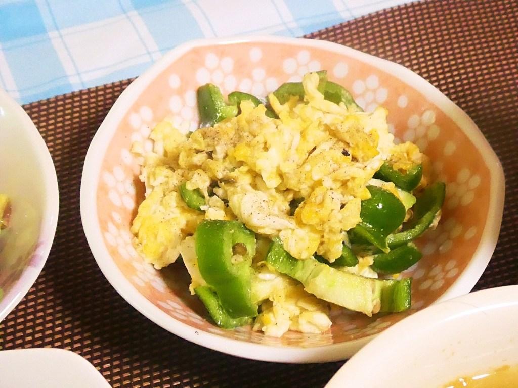 ピーマンと卵の炒め物