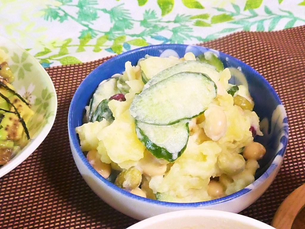 サラダ豆ときゅうりのポテトサラダ