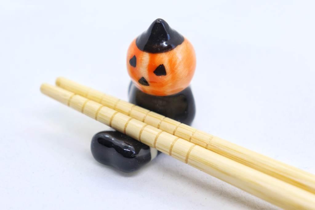 お座りハロウィンかぼちゃの箸置き - ホールド力