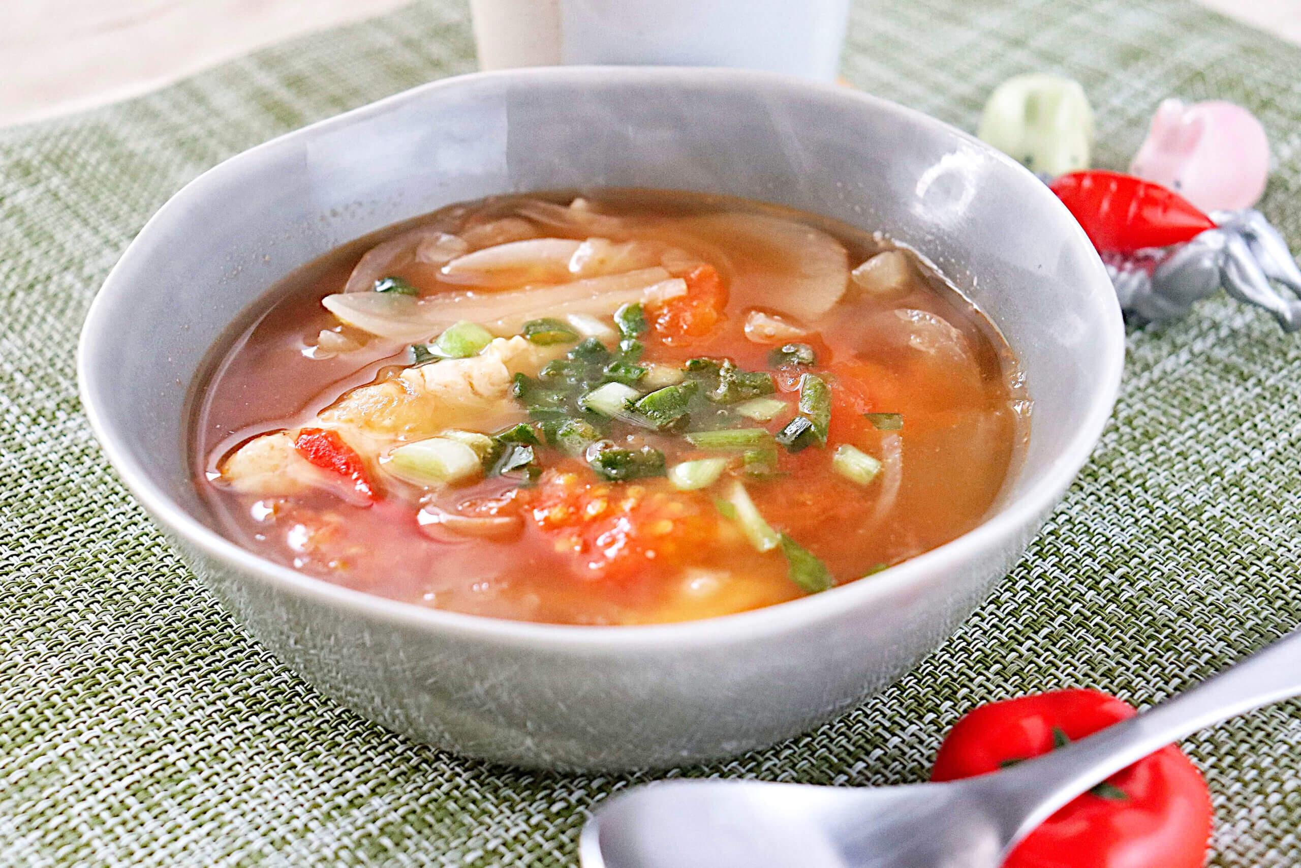 ささみとトマトの中華スープ