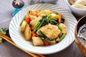 鶏胸肉と長芋の味噌炒め