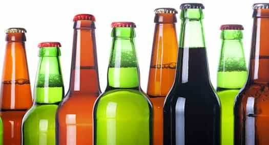 frosty bottles of beer isolated ...