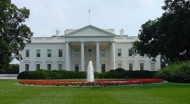 The White House front lawn