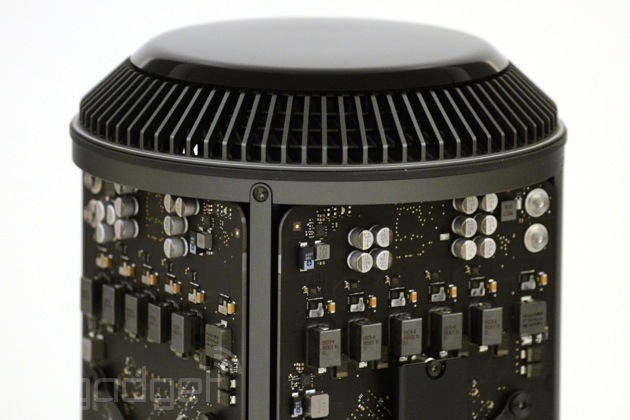 Apple Mac Pro with its innards exposed