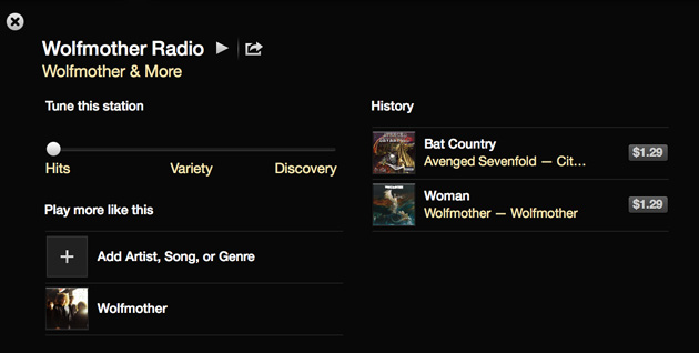 iTunes Radio for an Australian band
