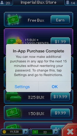 Apple now warns users of in-app purchase settings in iOS 7.1