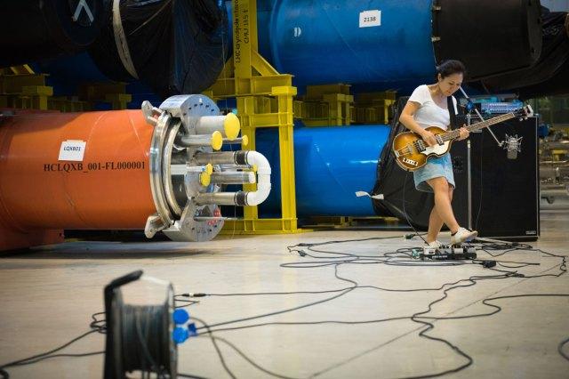 Deerhoof bassist Satomi Matsuzaki jams at CERN