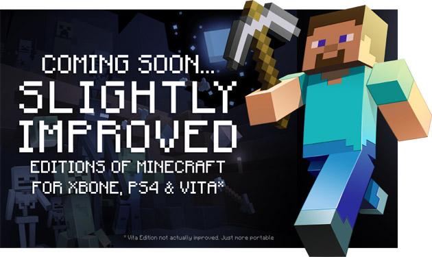Minecraft llegará a Xbox One, PS4 y PS Vita en agosto