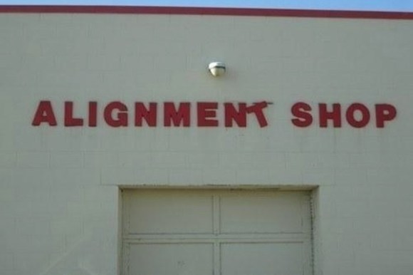 funny ironic photos, irony photos, ironic alignment shop