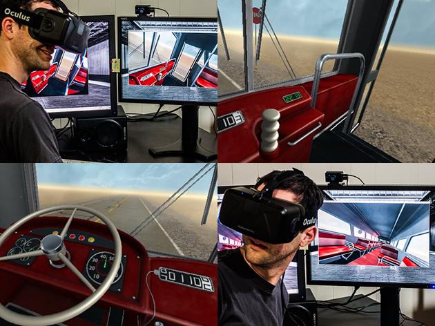 """Potete giocare meravigliosamente """"il bus del deserto"""" non movimentato del cassiere & di Penn in VR"""
