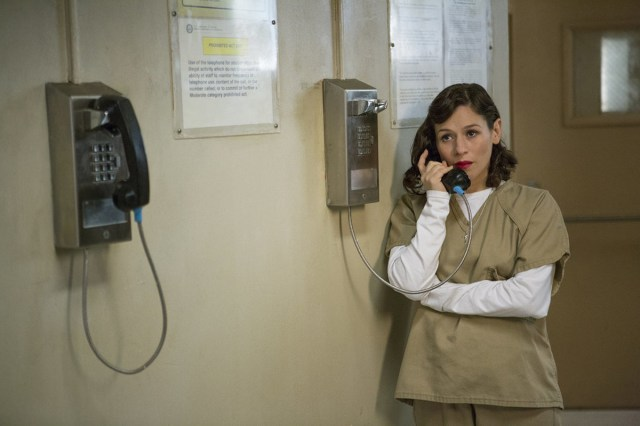 A prison phone call in 'Orange is the New Black'