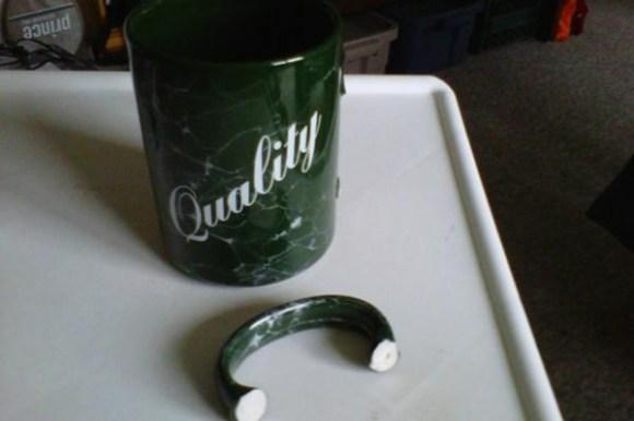 funny ironic photos, irony photos, broken quality mug