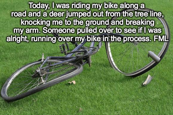worst cases of fml in history, worst fml stories, bike fml