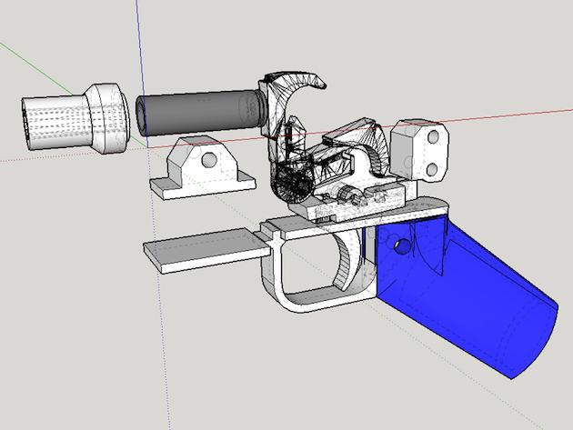Ora cè una pallottola acciaio di rinforzo per le pistole 3D printed