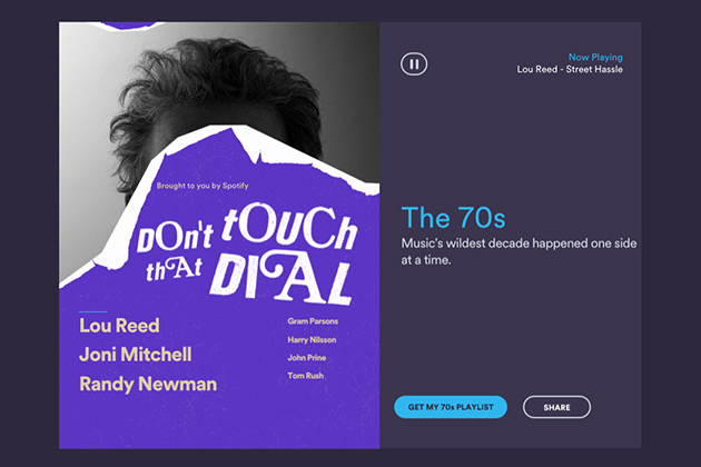 Del tempo spostamenti di Rewind di gusto di Spotify la vostra biblioteca di musica