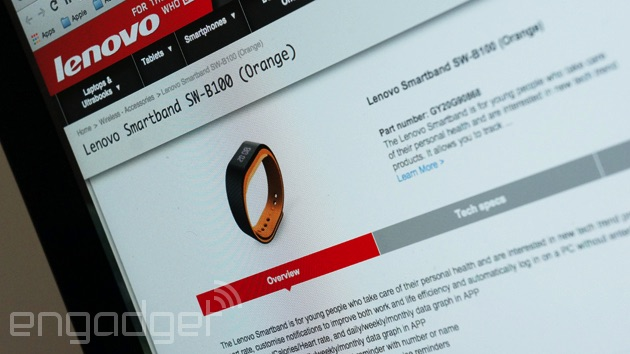 Lenovo Smartband on the web