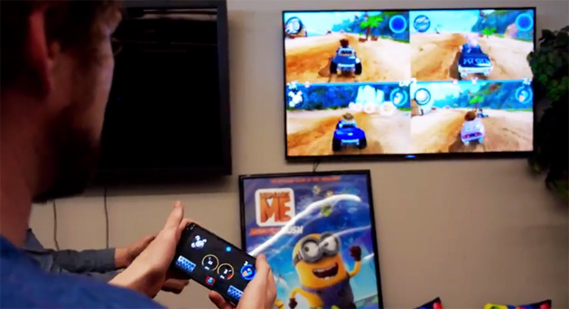 Using a phone as an Android TV game controller