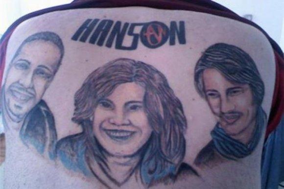 worst tattoos of celebrities, hanson