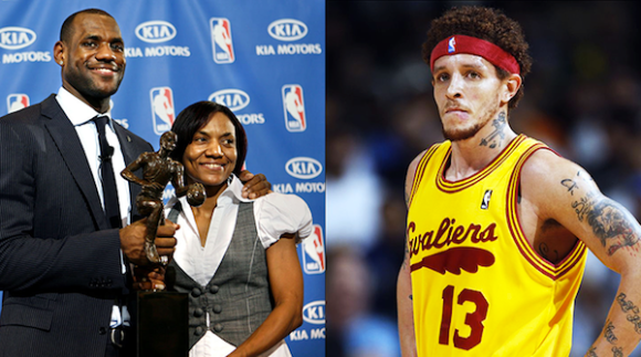 sports urban legends, lebron's mom and delonte west