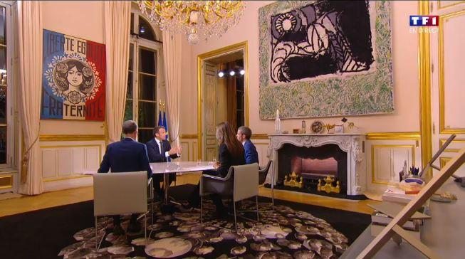 Emmanuel Macron Sur TF1 Mais Quel Est Ce Tableau De