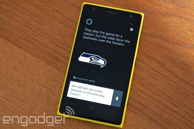 Cortana calls a Seahawks-Packers game