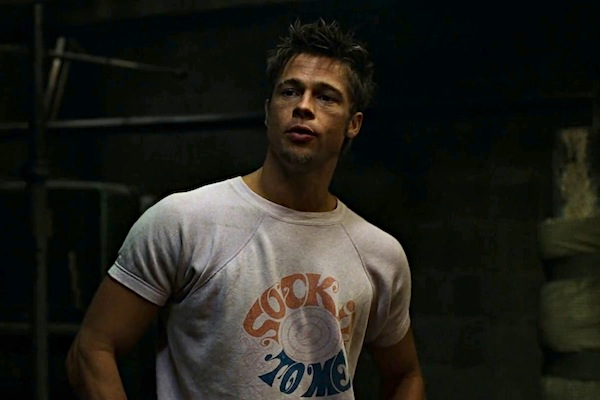 tyler durden brad pitt tshirt sock it to me tshirt The 25 Most Memorable Movie T Shirts