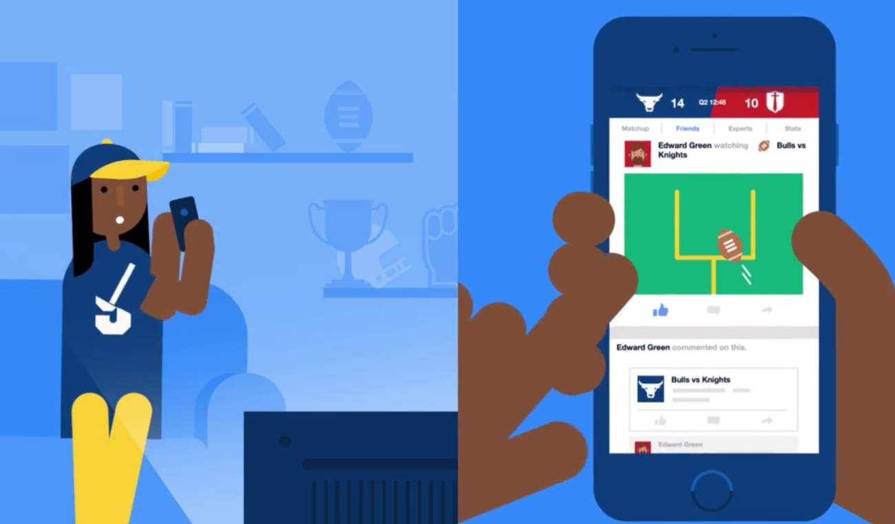 Facebook vuole lo stadio di sport ospitare il vostro schiamazzo del gran gioco