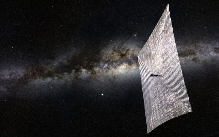 A render of LightSail in action