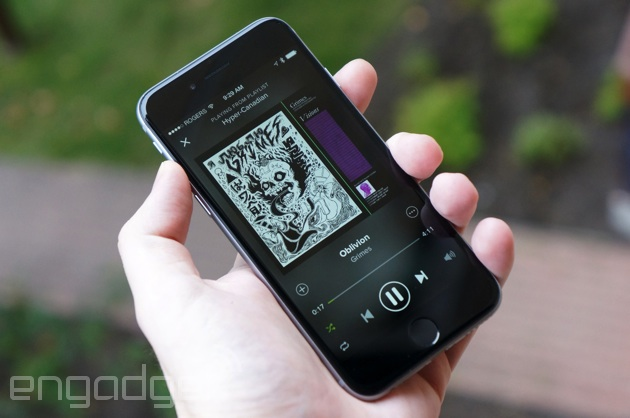 Spotify on an iPhone 6