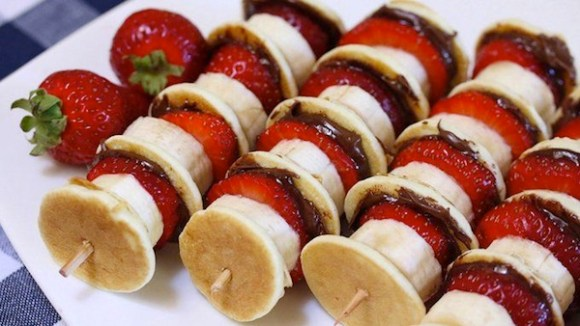 nutella recipes, things to do with nutella, nutella kebobs