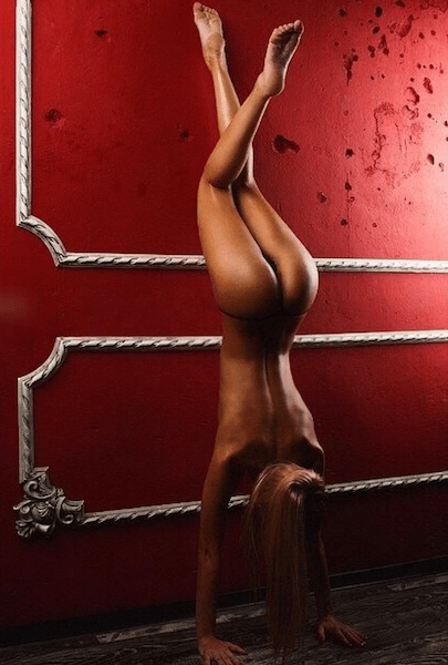 Naughty girl photos, thenaughtyyogini, hot Instagram models, bondage yoga