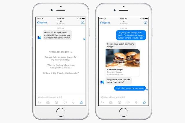 Facebook Messenger's M assistant