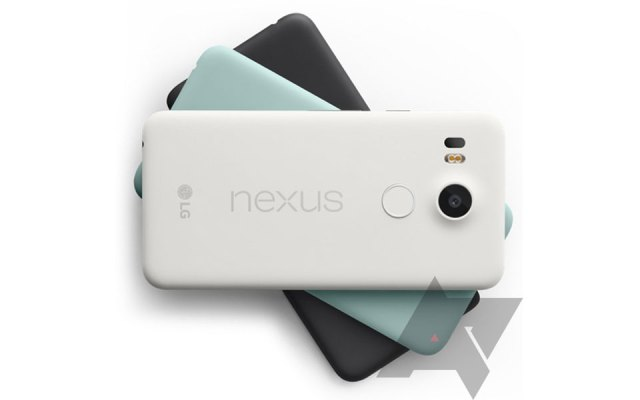 Google's Nexus 5X in white, mint and black