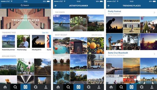 Instagram's redesigned Explore feature