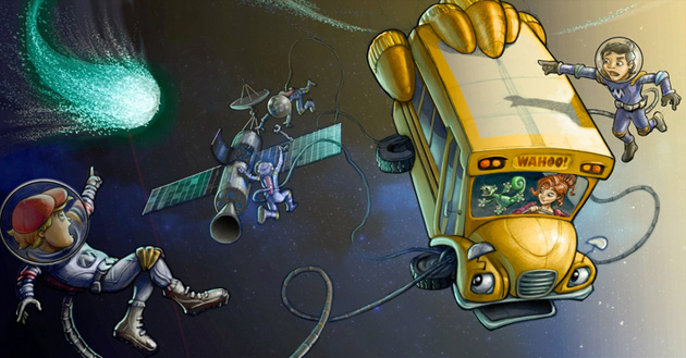 The Magic School Bus 360 concept drawing