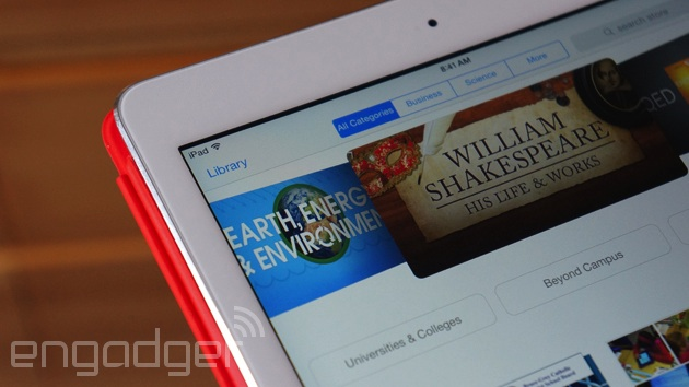 iTunes U on an iPad Air