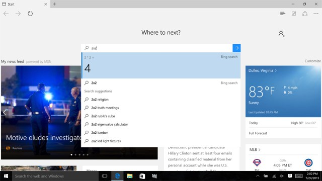 A closer look at the Edge browser in Windows 10