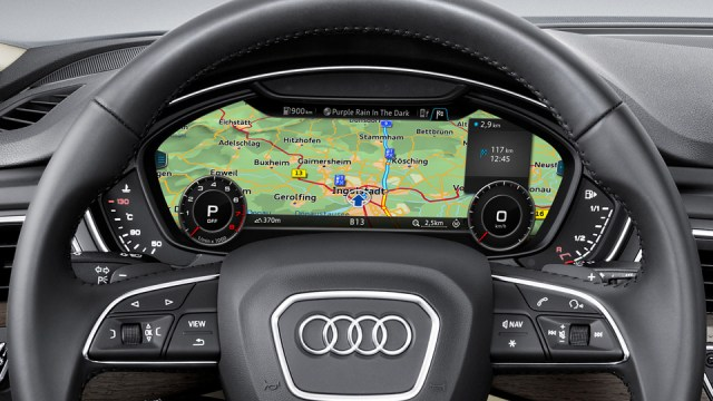 Navigation in the Audi A4's instrument cluster