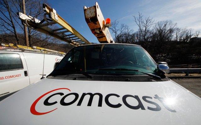 A Comcast service truck
