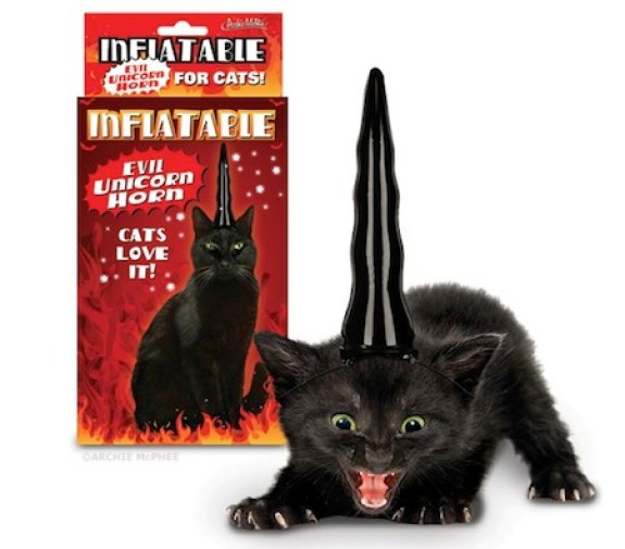 consumer products we're surprised aren't more popular, funny consumer products, awesome consumer products, evil unicorn horn for cats