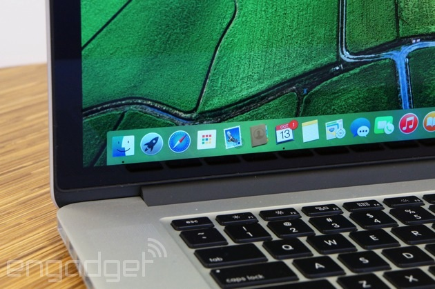 OS X Yosemite on a MacBook Pro