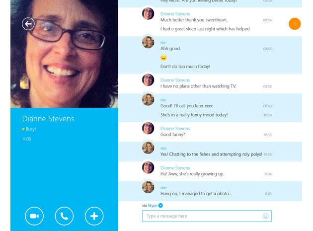 Skype's modern Windows app