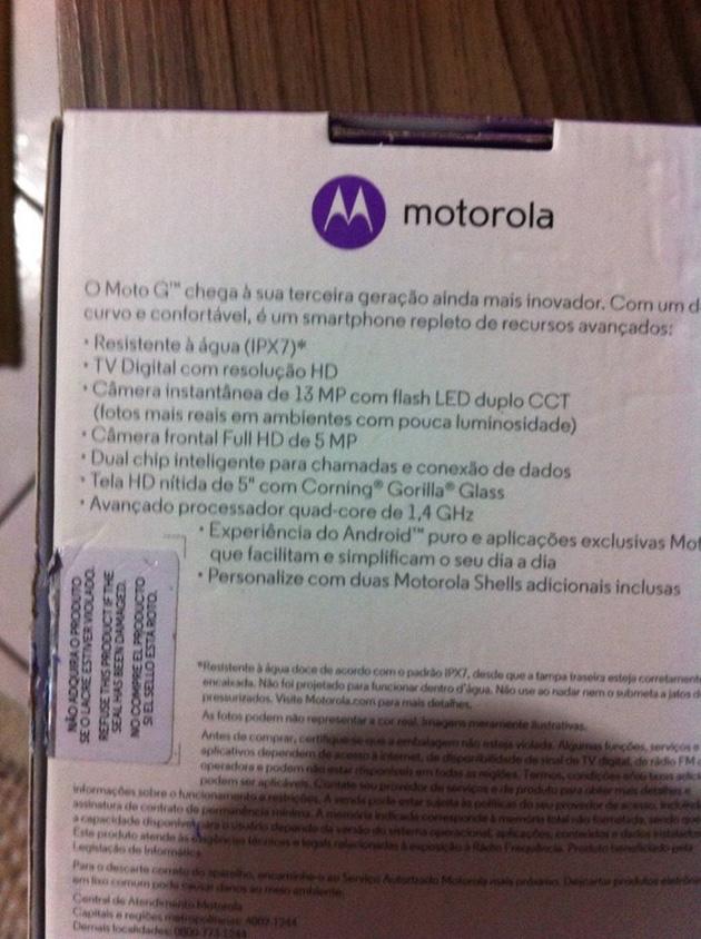 Next-gen Moto G specs